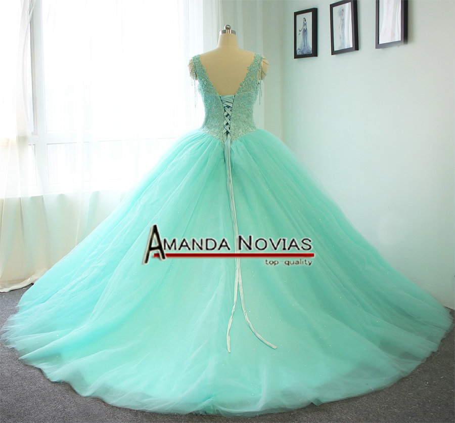 Aliexpress Buy High Quality Customer Order Mint Green Wedding Dress Ball Gown Style 100 Real Photos From Reliable Photo Suppliers On AMANDA