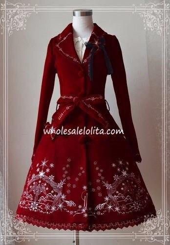 PrincessTea/вечерние зимние пальто в стиле Лолиты с вышивкой в виде хлопьев; распродажа