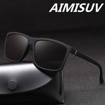AIMISUV Polarized Square Men Sunglasses
