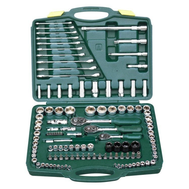 One hundreds twenty pieces of sleeve tool suit Machine repair six angle sleeve wrench set