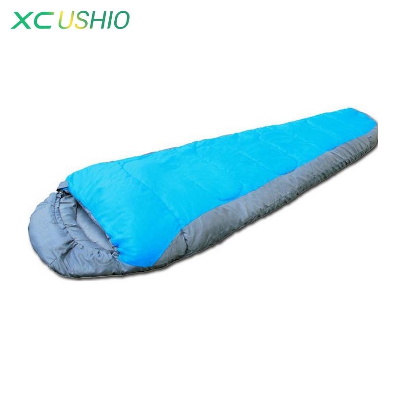 ФОТО 1x (180+30)*80cm mummy type waterproof winter indoor & outdoor camping Adult Sleeping bag warmkeeping free shipping