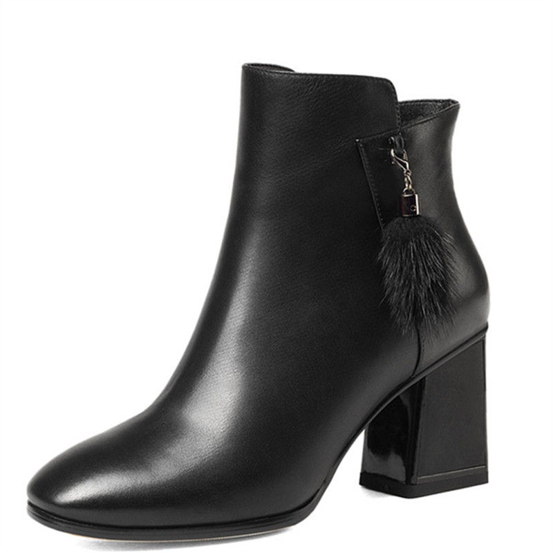 LOVEXSS Woman Autumn Winter Cross Tied Ankle Boots Fashion Plus Size 33 43 Martin Boots Black Claret High Heeled Shoes lovexss woman genuine leather ankle boots autumn winter high heeled shoes fashion plus size 32 43 black work chelsea boots