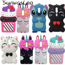 For LG Q Stylo 4 Q710MS 3D Soft Silicone Case Cute Cartoon Animal Rubber