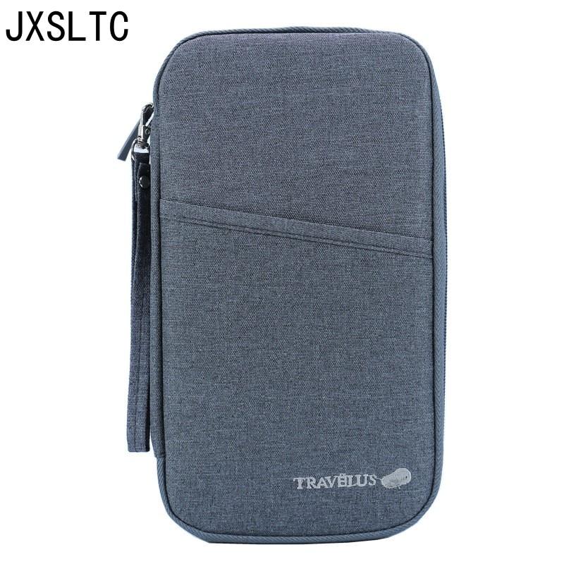 Passport Credit Id Card Holder Cash Organizer Documents Bill Storage Bag Handbag