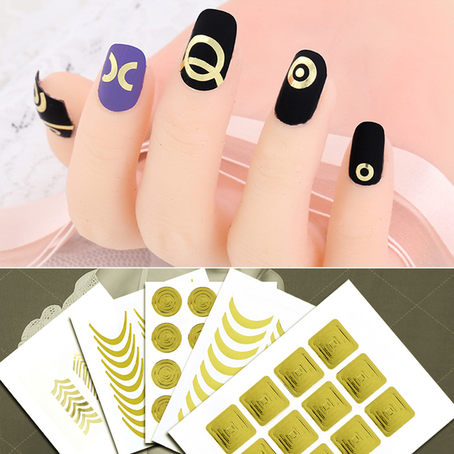 3pc Nails Sticker Tips Guide French Manicure Nail Art Decals Form Fringe  Guides Nails DIY Decorations
