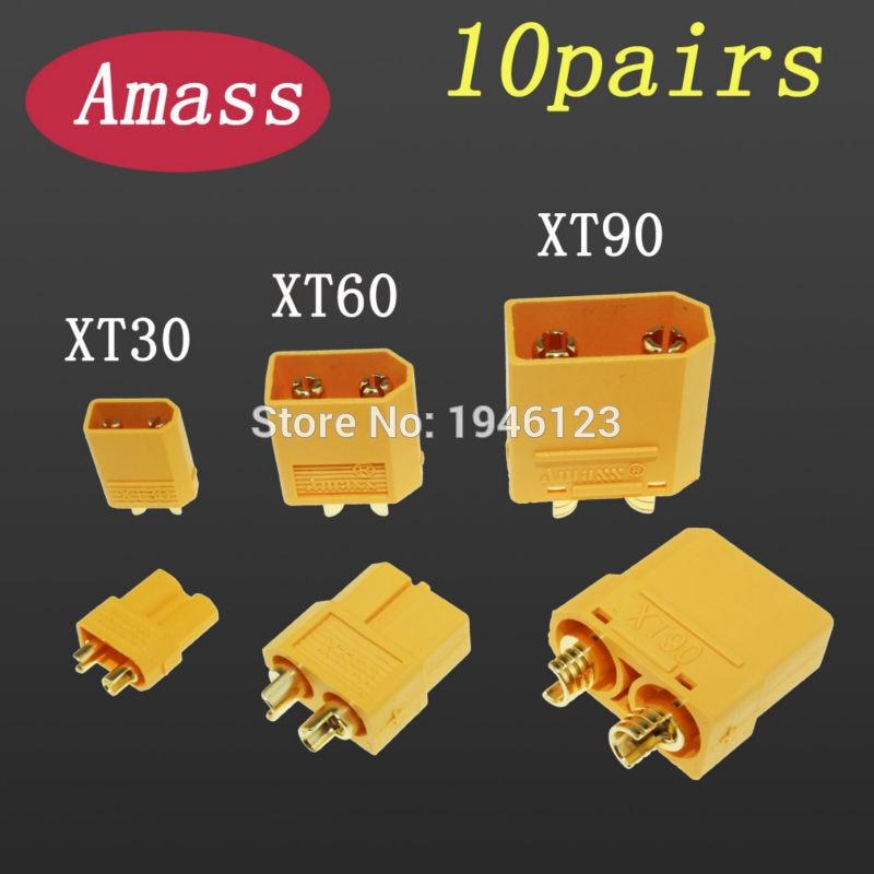 Original Amass Connector XT30 XT30U XT60 XT90 Banana Plug Bullet Connector Male Female For RC FPV Lipo Battery Plug