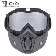Multi ATV Cycling biker Motorcycle Helmet Detachable Goggle Shield Nose Face Mask Eyewear Goggles glasses
