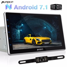 "Capacitive Screen!2 Din 10.1"" Android 7.1 Universal Car Radio No DVD Player GPS Navigation DAB+ Car Stereo Wifi 3G USB Headunit"