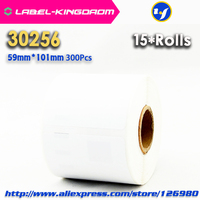 15 Rolls Dymo Compatible 30256 White Label 59mm*101mm 300Pcs/Roll Compatible for LabelWriter 450Turbo Printer Seiko SLP 440 450|label dymo|dymo printer labels|dymo label printer -
