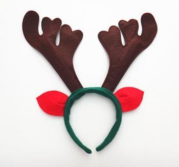 Christmas unisex headband antlers ear head hoop Party bar club decor adults children hairband headwear headdress party favor