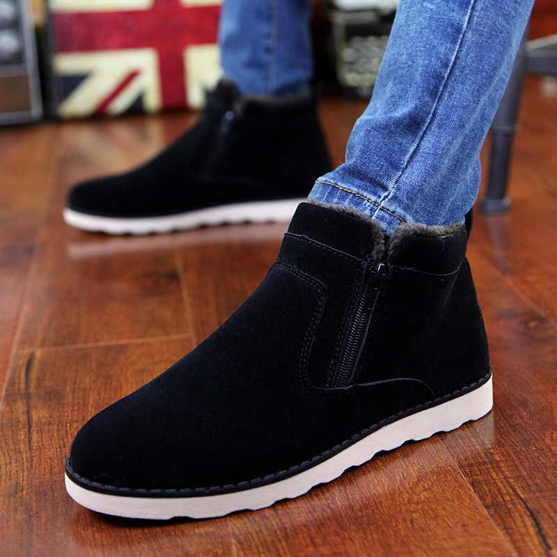 ... Зимняя мужская обувь, модная повседневная мужская обувь, мужская обувь  для взрослых, зимние ботинки ... 206afa8457a