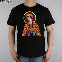 Madonna virgin bosom atomic PHYSICS science T-shirt Top Lycra Cotton Men T shirt New Design High Quality Digital Inkjet Printing