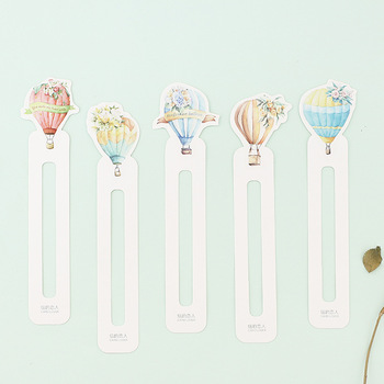 6 set/Lot Cute Love fire balloon page holder memo note Hot air balloon bookmarks  Stationery School supplies FC394 sass page 6