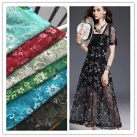 Free Shipping Beautiful Black White Blue Red Lace Fabric Wedding Decoration Table Cloth DIY Crafts Width