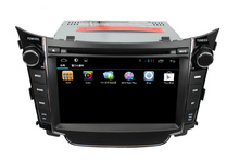 For Hyundai I30 pure android 4.4 capacitive touch screen Quad core car dvd player GPS with 3G+Wifi+DVD+Radio+BT phonebook+Ipod
