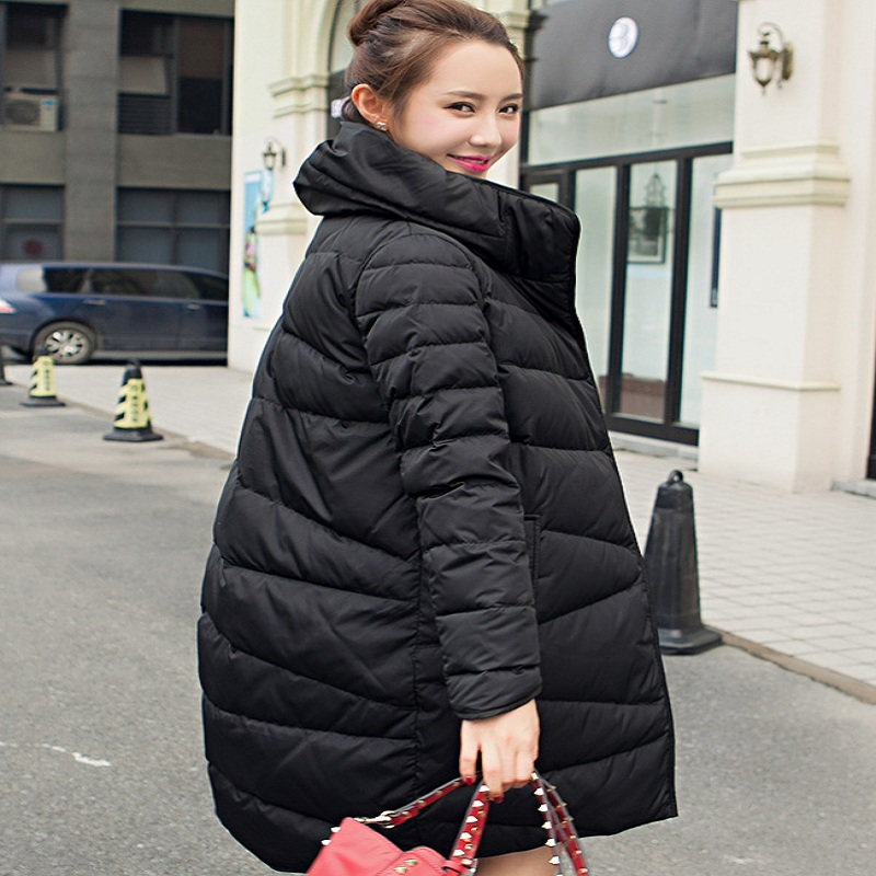 2016New winter women's down jacket duck down jacket maternity down jacket pregnancy coat warm clothing outerwear winter clothing 2016 new european fashion woman winter duck down jacket stand collar warm coat cool color patchwork outerwear streetwear a3424