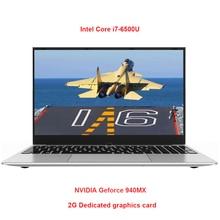2G Dedicated Card Metal Shell 15.6 Inch Intel i7-6500U Laptop 8G RAM 1080P IPS Windows 10 Gaming Notebook for CF GAT5 PUBG