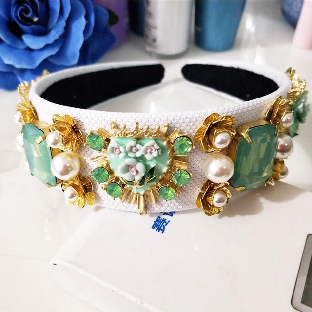 Купить новый тренд роскошная бархатная корона в стиле барокко хрустальный картинки