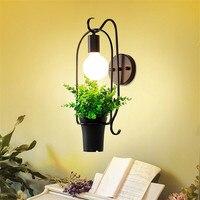 Plantas de Flores de ferro Lâmpada de Parede Moderna Nordic Simples Wandlamp Cabeceira Quarto Varanda Corredor Sala de estar Decoração Da Parede de Luz Luminárias de parede     -