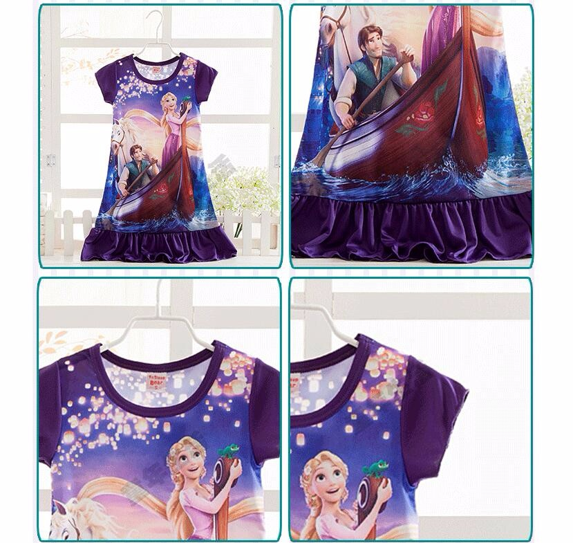 Anna Elsa Girls Dress Snow Queen Princess Dresses for Girls Night Gown Pajamas Baby Dress Kids Sleepwear Pyjamas Clothes 18