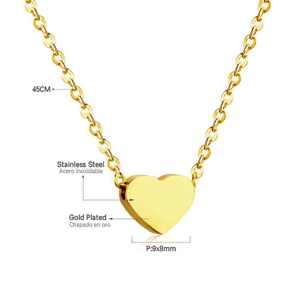 45cm Top 316L Stainless Steel Heart Moon Star CrossPendant Long Link Chains Necklaces Set Gold For Women Choker Necklace Jewelry