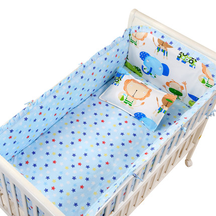 Promotion! 6PCS New Arrived baby cot bedding set Pure cotton crib bumper baby cot sets ,include(bumpers+sheet+pillow cover) promotion 6pcs baby bedding set 100% cotton crib bumper baby cot sets baby bed bumpers sheet pillow cover