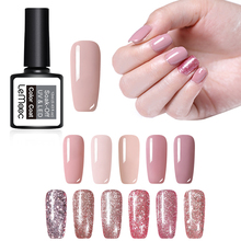 LEMOOC 12ml Rose Gold Gel Polish Multi-color Manicure Glitter Sequins Shining Soak Off UV Varnish Nail Art