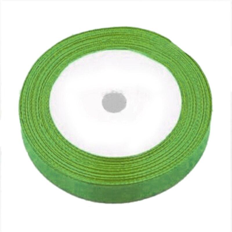 1 рулон шелковые, атласные ленты для Свадебная вечеринка (фрукты зеленый) 22 м длинные (25 ярдов) ширина 25 мм