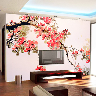 Large custom mural 3D wallpaper TV wall living room entrance study Chinese classical backdrop 3D wallpaper wall paintings large custom 3d wallpaper mural 3d wallpaper 3d stereoscopic rose pink flowers living room bedroom tv backdrop box