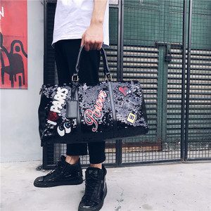 Image 3 - Fashion Travel Bag Sequins Overnight Bag Portable Duffle Bags Large Capacity Quitte Bags for Women Men Big Weekend Tote Pink