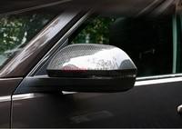 ABS cromo y color de fibra de carbono cubierta embellecedora de espejo retrovisor 2 uds para Volkswagen VW Atlas Teramont 2017  2018