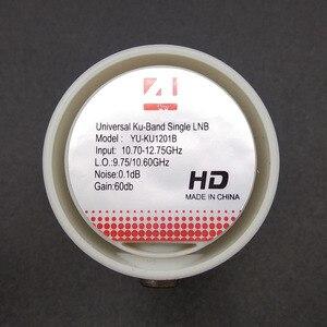 Image 5 - Универсальный HD Ku Band одиночный LNB ДВОЙНОЙ НИЗКИЙ Bnad 9,75/10,6 GHZ высокий диапазон 60 дБ спутниковый ресивер