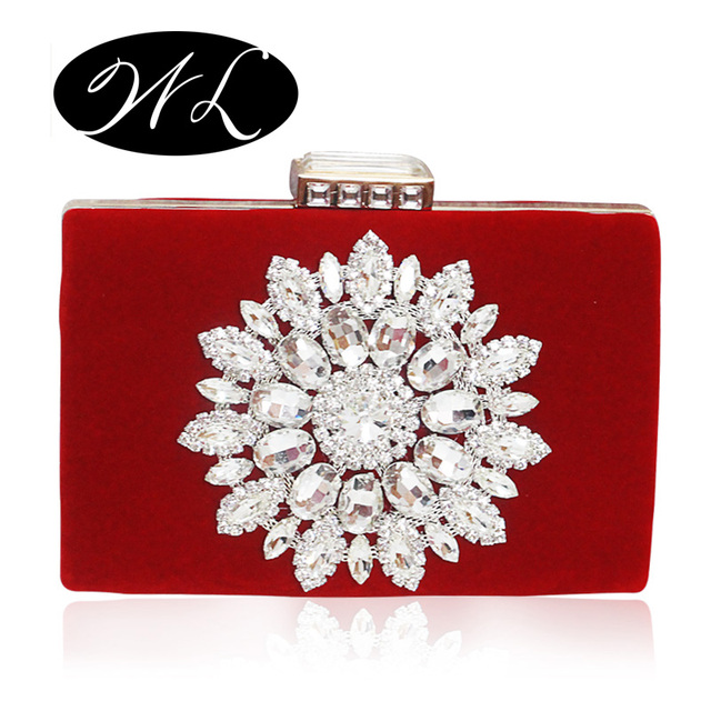2017 New Single Side Sun Diamond Crystal Evening Bags Clutch Bag Hot Styling Day Clutches Lady Wedding woman bag Free Shipping