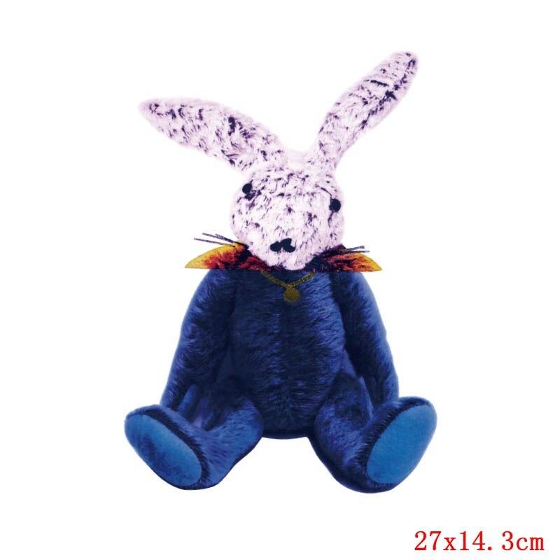 Prajna милый кролик патч теплопередача Винил утюг на передачу для одежды мультфильм значок глажка наклейки аппликация уровень - Цвет: Темно-бордовый