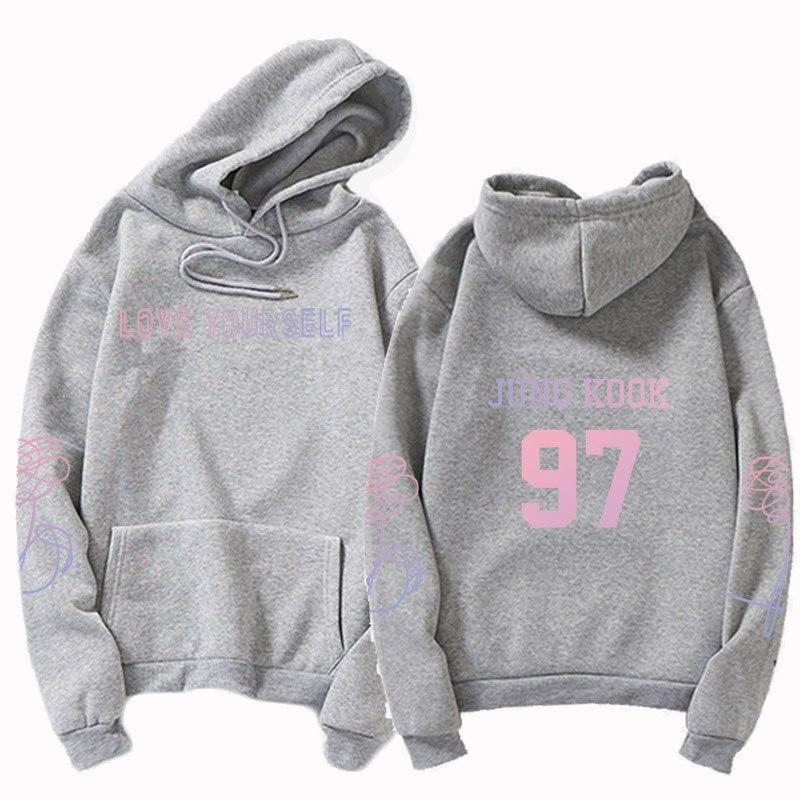 jungkook Unisex hoody kpop suga93 hoodies love KPOP weatshirt love yourself KPOP hoody sweatshirt  harajuku hoodies 13
