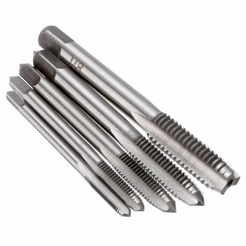 5pcs HSS Machine Screw Thread Metric Plug Tap Screw Thread Taps Drill Hand Tapper Set M3/M4/M5/M6/M8 For Machine Tools cronametal hss co screw thread tap metric machine and hand tools m2 m3 m4 m4 5 m5 m6 m7 m8 m10 m12 m14 m16 m18 hand tap