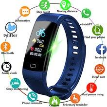 LIGE Smartwatch электронные умные часы для женщин и мужчин, бег, Велоспорт, скалолазание, здоровье, шагомер, СВЕТОДИОДНЫЙ цветной экран, спортивный смарт-браслет
