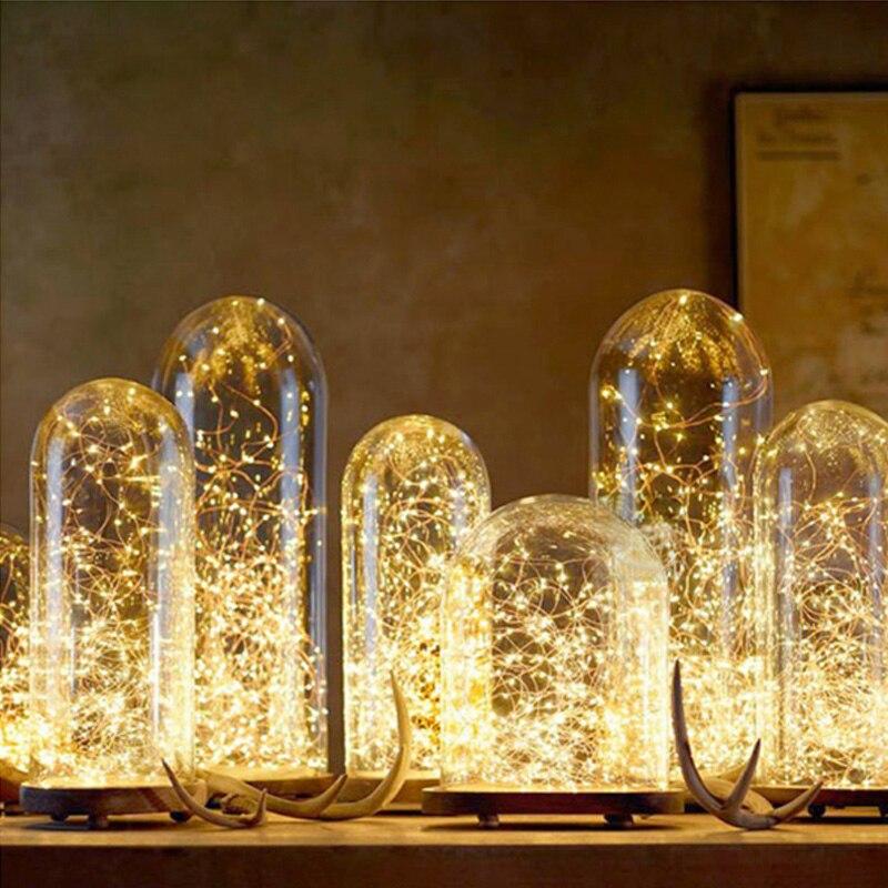 5M10M светодиодный звездного света строки Фея Micro СВЕТОДИОДНЫЙ S Медный провод для наружного Рождество украшения Батарея для вечерние Рождество Свадебные