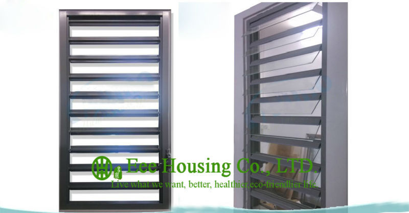 Glass Vent Louvers / Aluminum Shutters, Aluminum Glass Louvered Windows With Hurricane-proof, Jalousie Louver