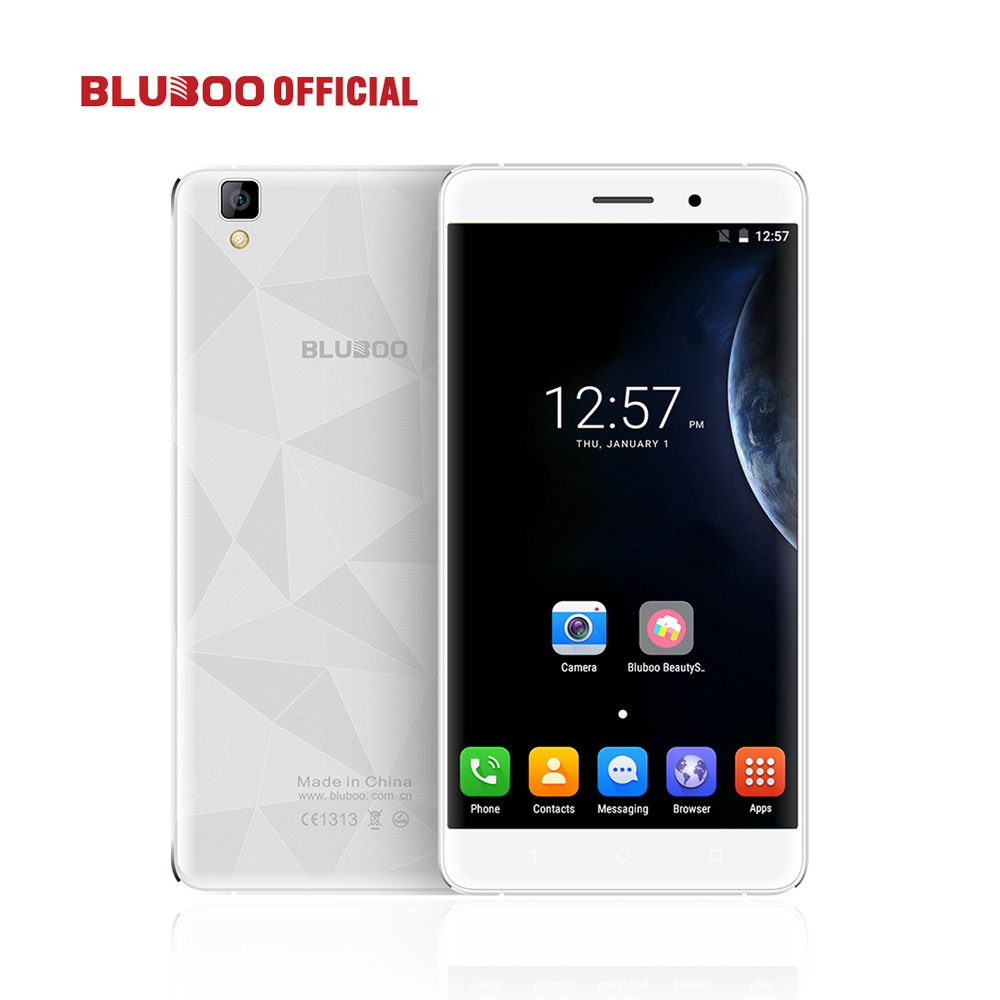 Original BLUBOO Maya 5.5 HD MTK6580 Quad Core Smartphone Android 6.0 2GB RAM 16GB ROM 5.0MP+8.0MP 3G Mobile Phone 3000mAh