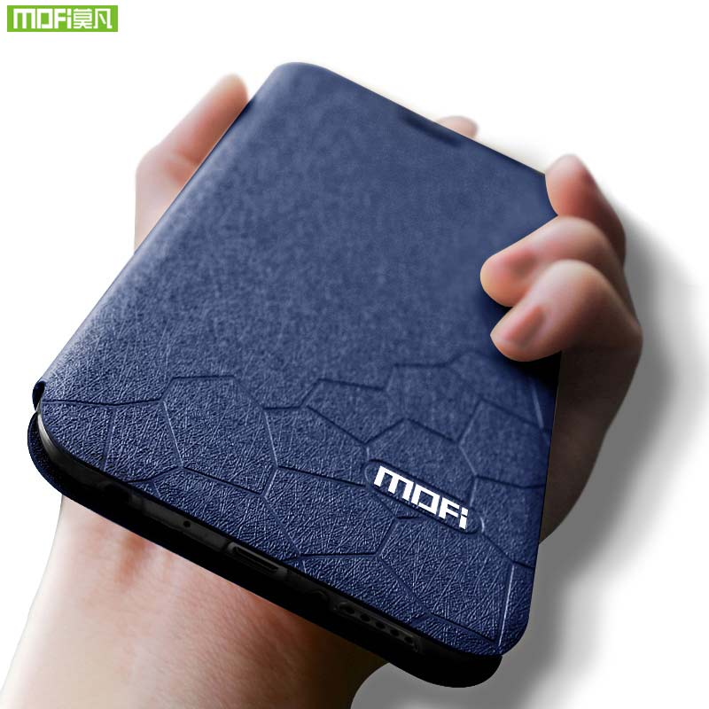 Mofi For Huawei honor 10 lite case cover leather For honor 10 lite case for huawei honor 10 lite cover silicon back stand holder