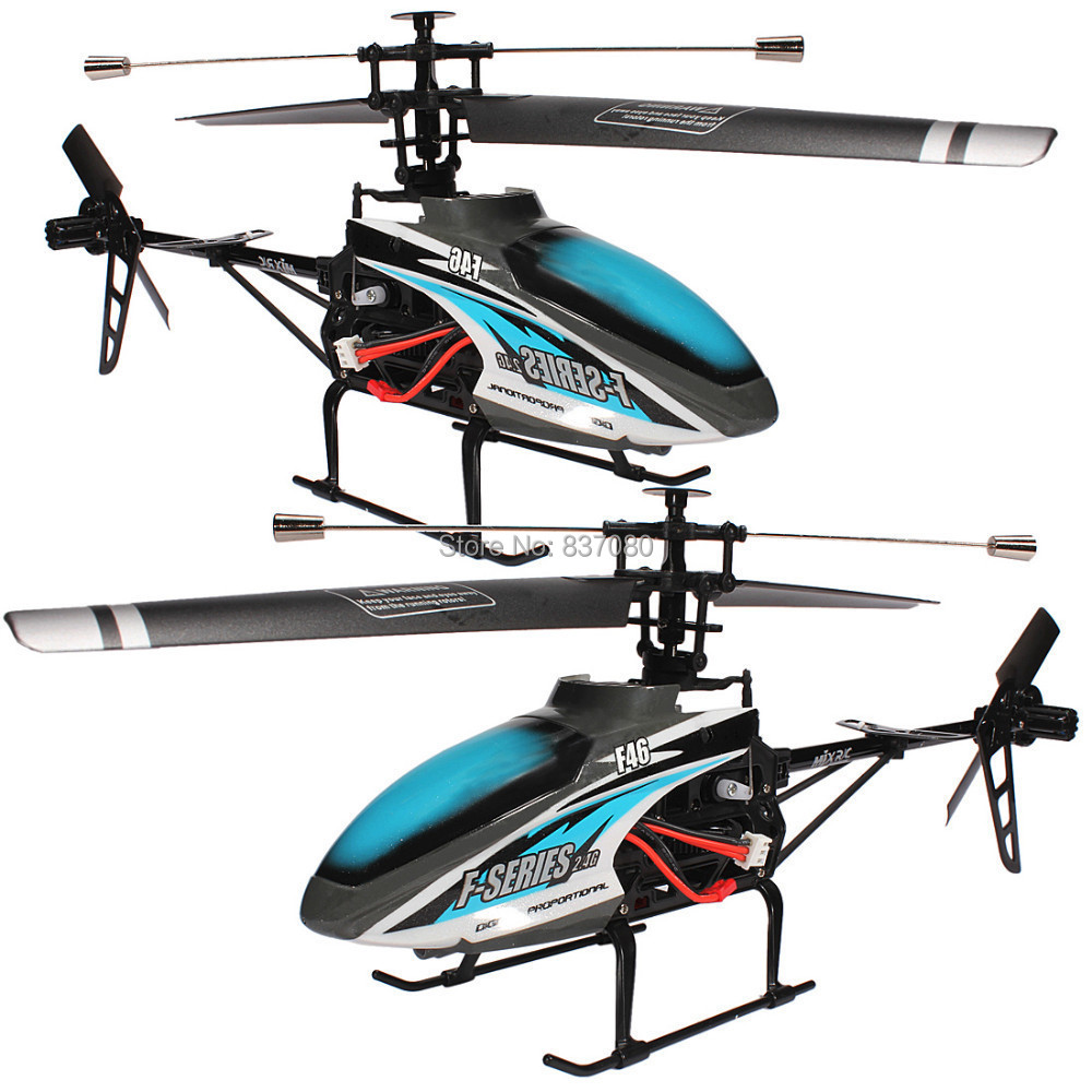 51CM Free-shipping Hot Blue MJX F46 F646 F-Series 51CM 2.4G 4CH Single-Rotor RC Remote Control Helicopter LCD/PRO MEMS GYRO Toy 3d ручка feizerg f 001 blue