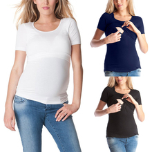 2018 Brand New Women Maternity Nursing Top Breastfeeding T-shirt Summer Shortsleeve Multi Functional Mummy Nursing Clothes