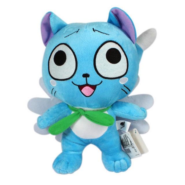 """Аниме Fairy Tail Рисунках 12 """"30 см Счастлив Голубой Кот Плюшевые Игрушки Супер Каваи Neko Мягкие Куклы Подарок для Baby Дети Друзей"""