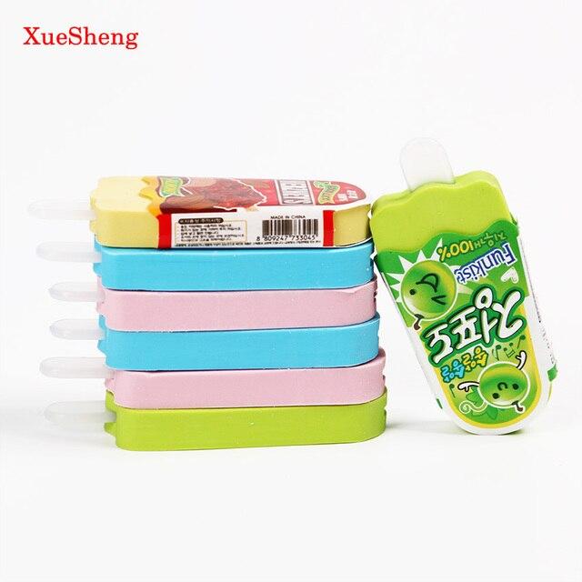 Из 2 предметов Высокое качество Kawaii ластик мороженое Ластик Канцелярские Малыш игрушка в подарок школьные принадлежности разные цвета
