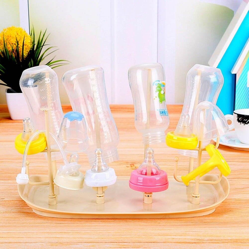 Бутылки крылом стеллаж для хранения Стекло столешницы сухой стойку бутылочки сушки очистки барабан стойку