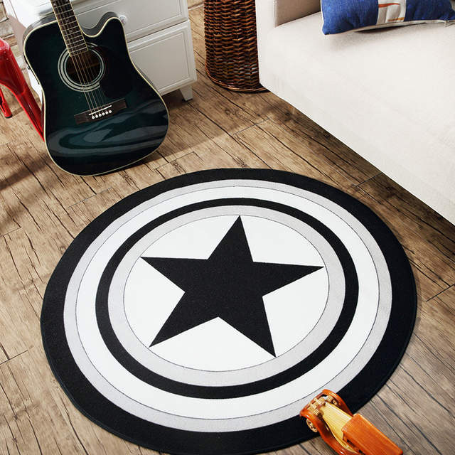 Us 3687 30 Offthe Trend Of Circular Carpet Marvel Captain America Shield Blanket Living Room Table Mat Bedroom Rug Computer Cushion Child Pad In