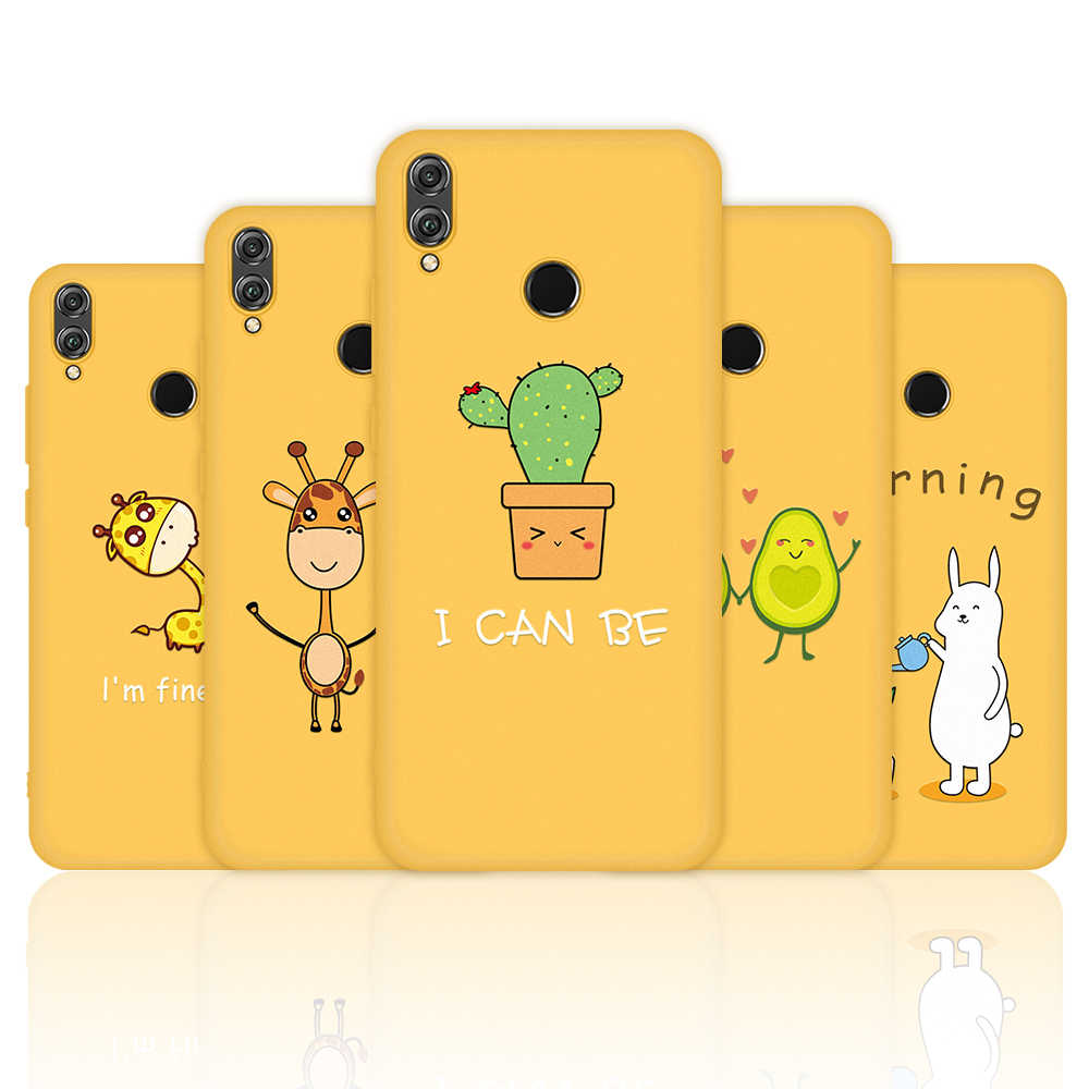Yellow Giraffe Cat Phone Case For For Huawei Honor 10i 20i 10 9 20 Lite 8X Soft TPU Silicone Case For Huawei Nova 5 Pro 5i