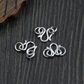 925 sterling silver W shaped buckle diy bracelet necklace clasps accessories 10mm 5pcs Wholesale
