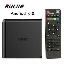 T95X Android 6.0 TV Box S905X Quad Core 2GB RAM 8GB/16GB ROM 2.4G Wifi HDMI 4k*2k H.265 Kodi 16.1 DLNA Airpla Smart Media Player